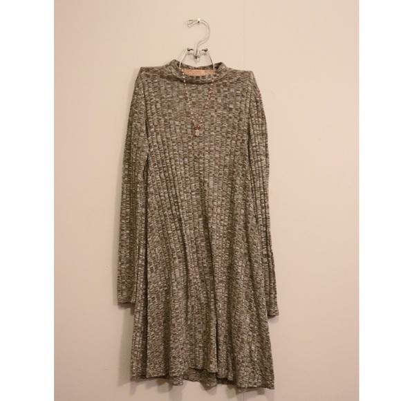 love, Fire Dresses & Skirts - love, Fire high-neck long sleeve dress